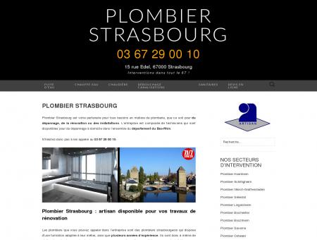 Plombier Strasbourg : 03 67 29 00 10
