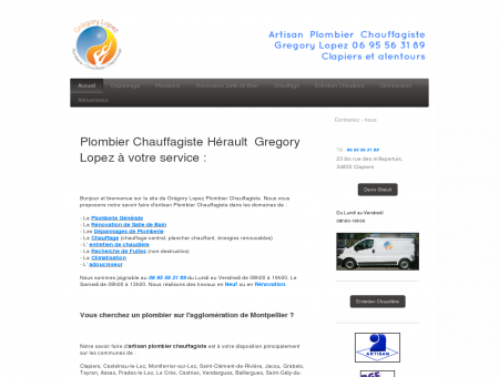 Grégory Lopez Artisan Plombier Chauffagiste