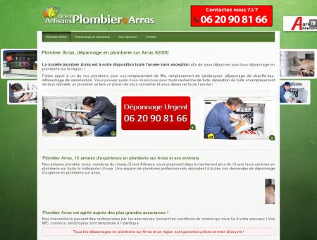 Plombier Arras, dépannage plomberie à Arras...