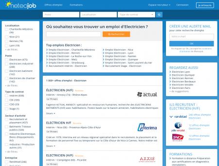 Emploi Electricien recrutement - Meteojob.com