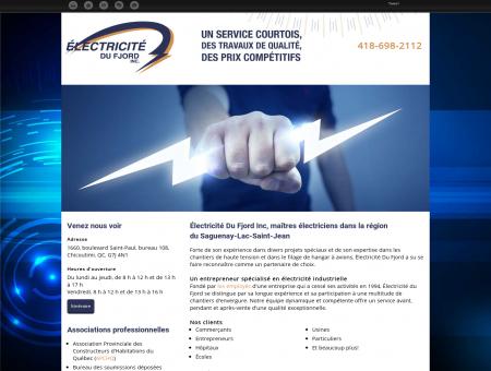 Électricité Du Fjord Inc | Entrepreneur électricien ...
