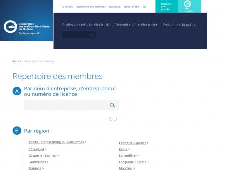 Répertoire des membres - CMEQ | Corporation...