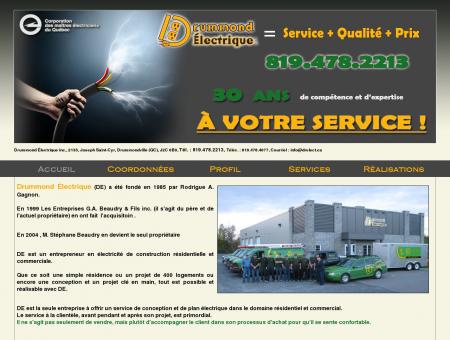 Drummond Électrique - Entrepreneur électricien...
