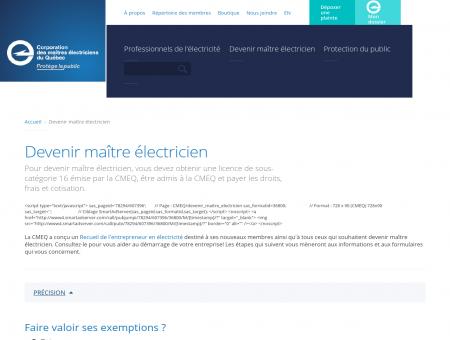 Devenir maître électricien - CMEQ