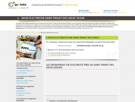 DEVIS Électricien Saint Privat des Vieux 30340