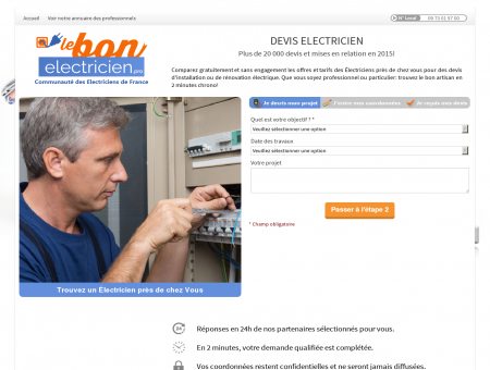Electricien Privat - Votre devis en 2 clics!