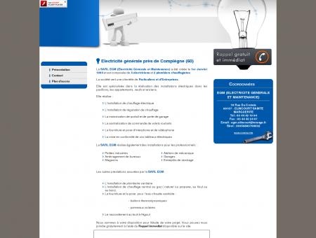 Electricien Ressons sur Matz - EGM...