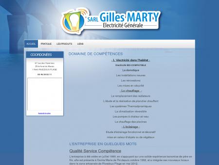 Gilles Marty - Electricien dans l'île de Ré - Accueil