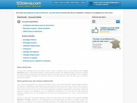 Devis Electricien Gratuit   123devis.com