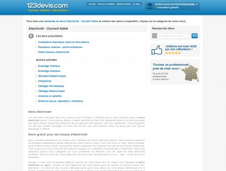 Devis Electricien Gratuit | 123devis.com