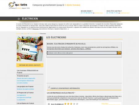 Électricien - Entreprise électricité - Devis Travaux ...