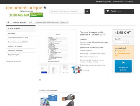 Document unique Métier : Electricien - Le...