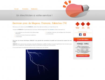 Electricien Megeve - HENELEC (SARL) :...