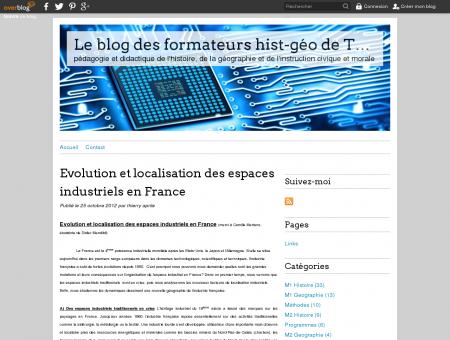 Evolution et localisation des espaces industriels...