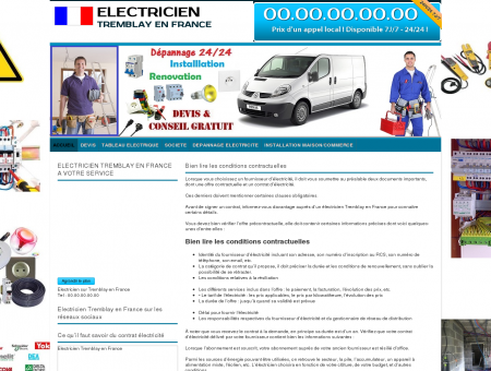Electricien Tremblay-en-france TEL:01 42 18...