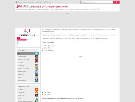 Solution 94% Photo Electricien et réponse sur...