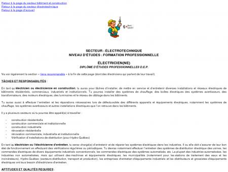 électricienne ou électricien - Metiers Québec