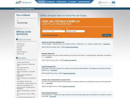 Emploi : offres d'emploi dans le Nord-Pas-de...