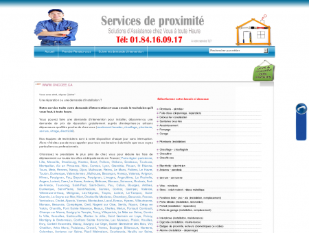 Service de proximité : plombier, electricien,...