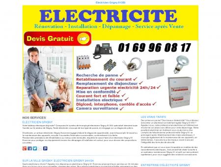 Electricien Grigny TEL:01 69 96 08 17