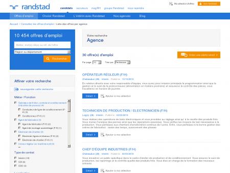 Offres d'emploi de l'agence Randstad...