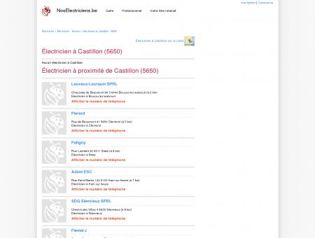 Électricien Castillon - 5650 - Avis des...