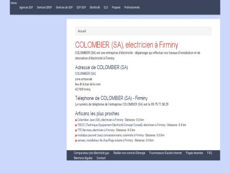 COLOMBIER (SA), electricien à Firminy -...