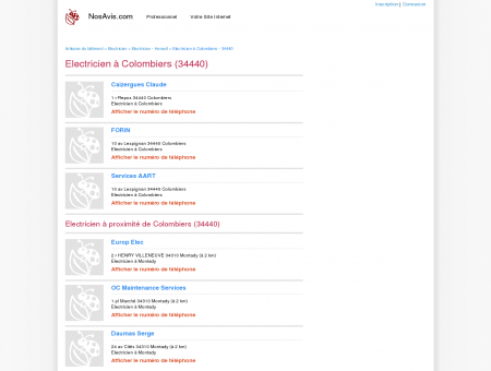 Electricien Colombiers - 34440 - Avis...