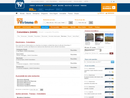 Electriciens - Colombiers - Immobilier :...