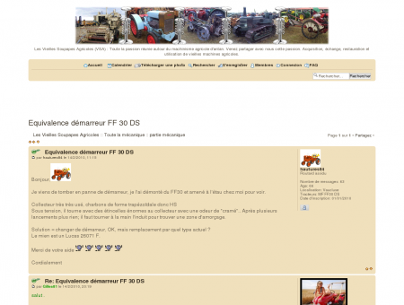 Equivalence démarreur FF 30 DS