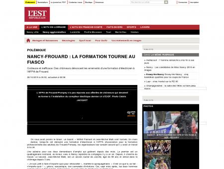 Edition de Nancy Agglomération   Nancy...