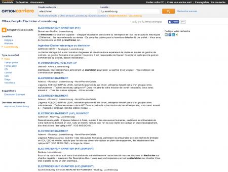 Offres d'emploi Électricien - Luxembourg |...