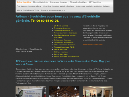 AEV électricien Artisan du Vexin