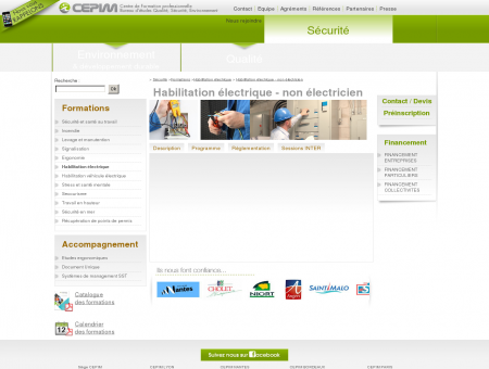 Habilitation non électricien - Centre Cepim...