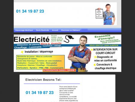 Electricien 95870 Bezons - Excellent...