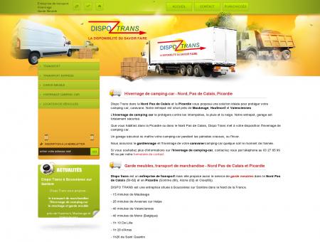 Dispo Trans vous propose l hivernage de camping car, un garage pour votre camping car dans le Nord Pas de Calais et la Picardie