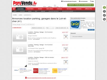 Location parking, garage Loir-et-cher (41) :...