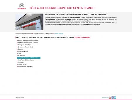 Concessionnaires auto & garages Tarn-et...