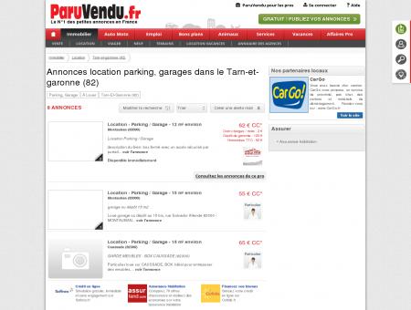 Location parking, garage Tarn-et-garonne...