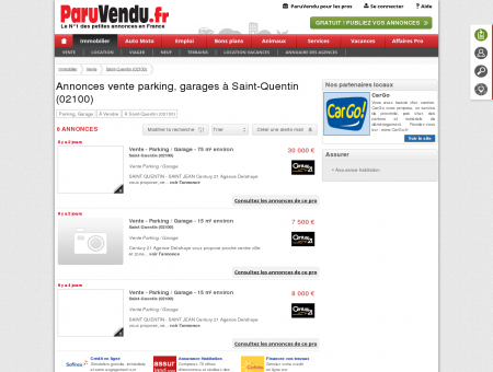 Vente parking, garage à Saint-Quentin...