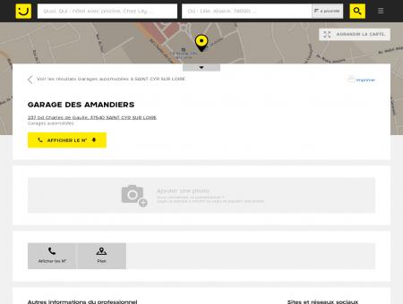 Renault Saint Cyr/Loire Garage des Amandiers...
