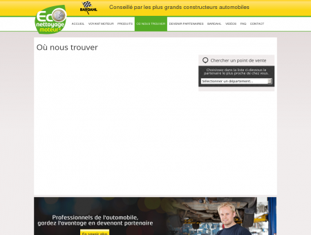 Où nous trouver - Bardahl Eco Nettoyage Moteur