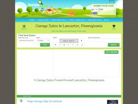 Garage Sales in Lancaster, Pennsylvania | Yard Sale Search