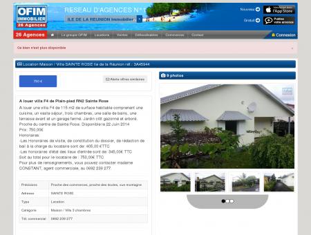 Location - Maison / Villa - SAINTE ROSE - A...
