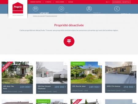 Maison de plain-pied à vendre Laval Sainte...