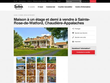 Maison à un étage et demi à vendre à Sainte...