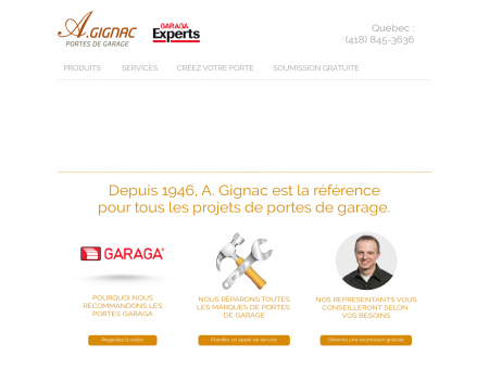 Portes de garage de qualité à Québec | A. Gignac