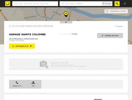 GARAGE SAINTE COLOMBE La Flèche (adresse,...