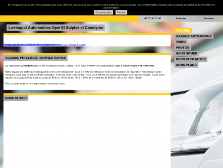 Garage automobile - Larrisquat Automobiles...