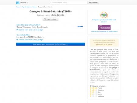 Garage Saint-Saturnin (72650) - Comparatif...